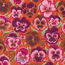 Pansies Orange Pansy Floral Fall 2015 Philip Jacobs Rowan Fabric Yard