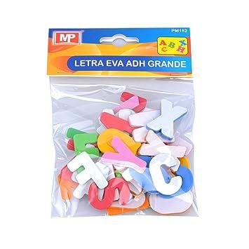 MP PM152 - Blíster de letras del abecedario de goma eva adhesivas: Amazon.es: Oficina y papelería