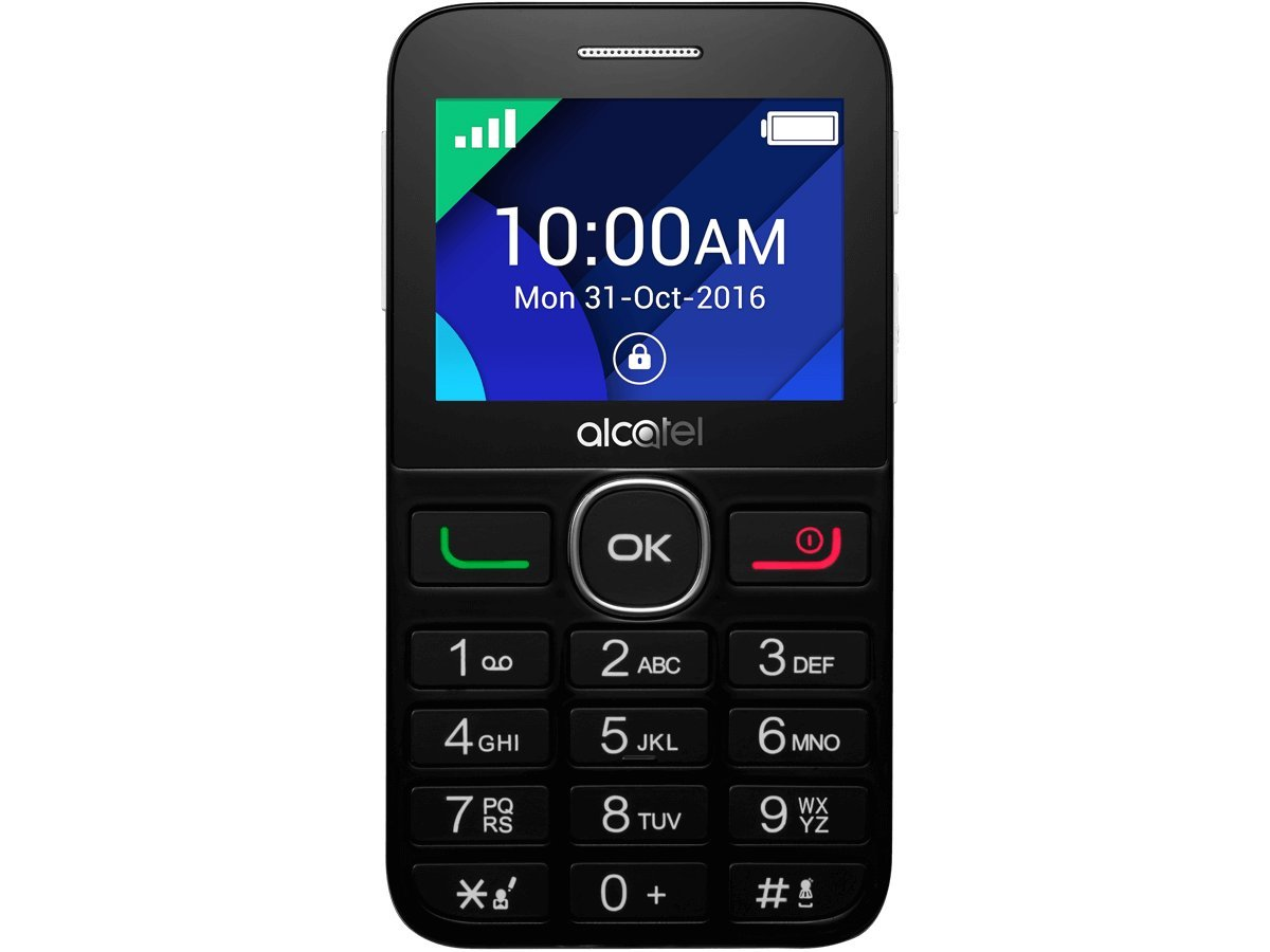 Alcatel 2008G-3AALGB1 OneTouch 2008G Mobile Phone - Black