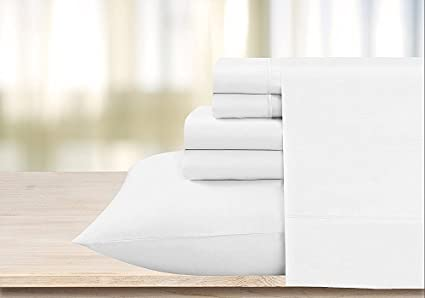 Scala 600 Thread Count Egyptian Cotton Solid White Full XL Sheet Set By  OnlineSmartDeals