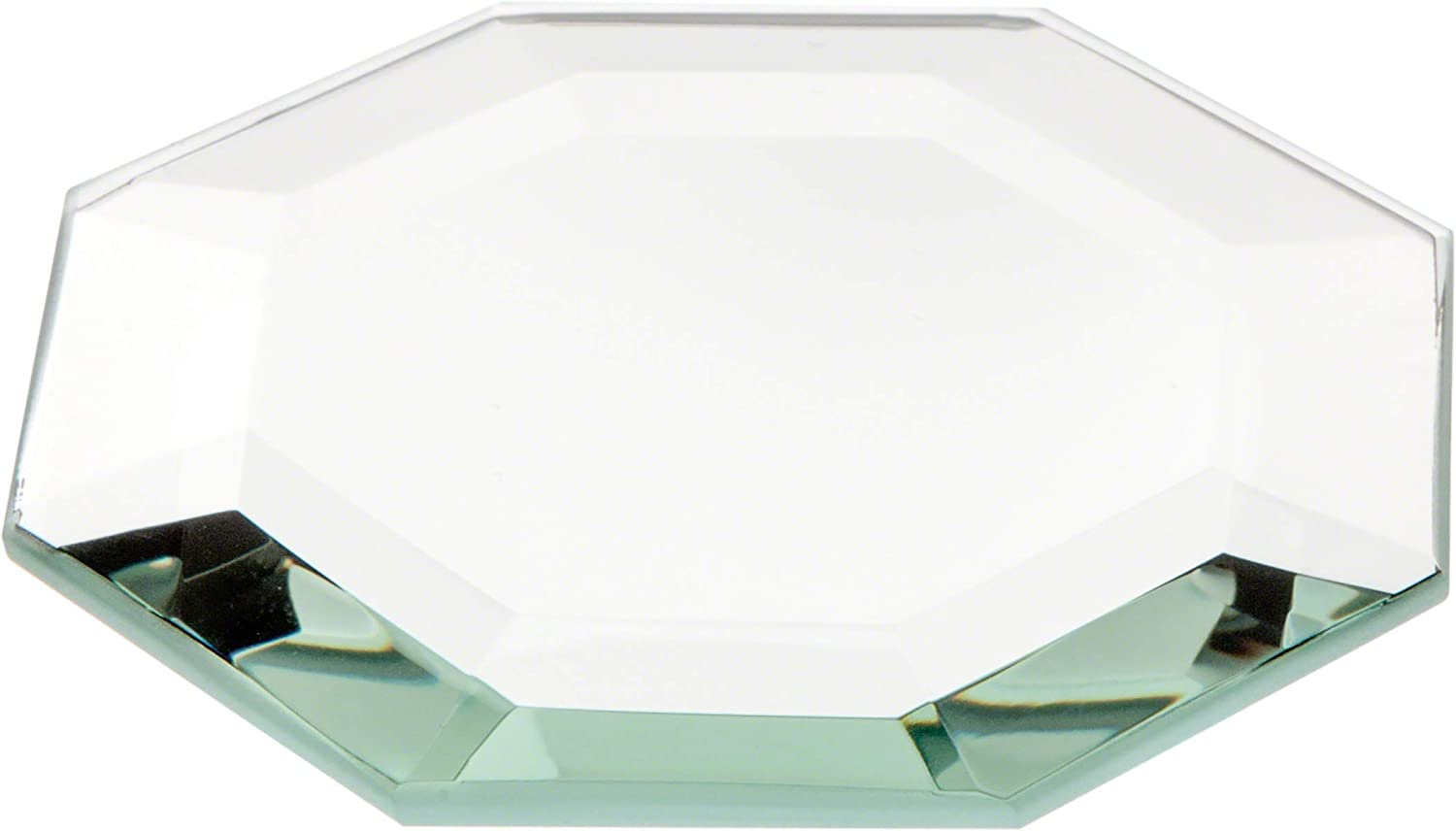 Plymor Octagon 5mm Beveled Glass Mirror, 3 inch x 3 inch