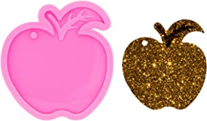 Angel Wings Apple-Shape Keychain Mold Polymer Clay Mould Resin Silicone Mold Fruit Mold Epoxy Craft Silicone Molds for Resin Casting