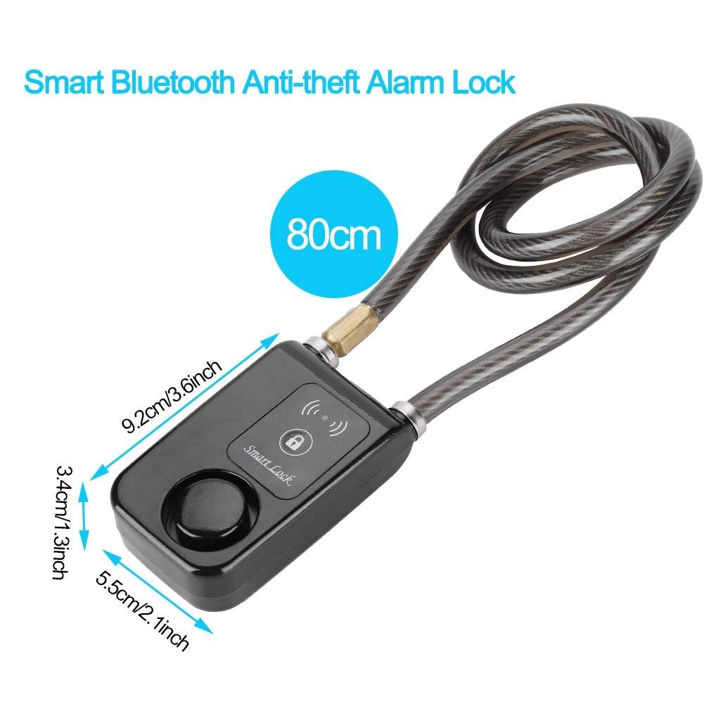 80 cm di sicurezza antifurto antifurto per bicicletta 110dB Lucchetto Bluetooth senza chiave intelligente