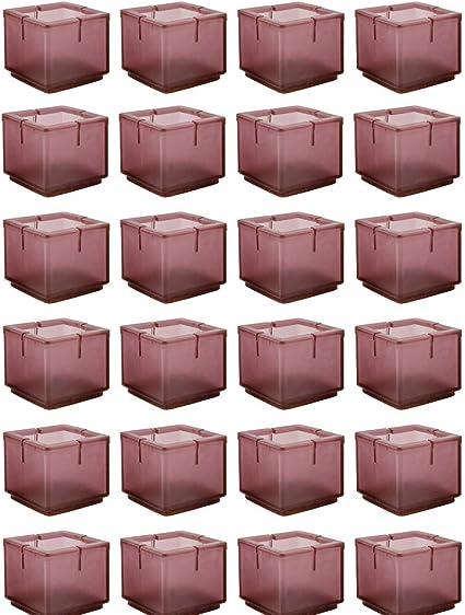 16 St/ück Mogokoyo Stuhlbeinkappen Silikon Stuhlsocken Stuhlbein Schutz M/öbel Furniture Tisch Hocker Bein Covers Pads F/ü/ße Protectors f/ür 25MM Quadratisch Beine
