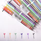 Multicolor Pen 6-in-1 Color 0.5mm Pack of 6 pcs, 6 Color Ballpoint Pen Office Shcool Supplies Students Children Gift