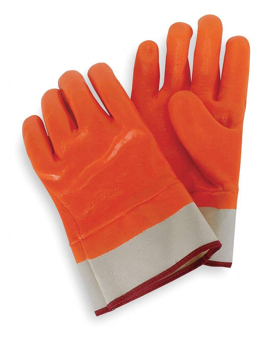 Condor Cold Protection Gloves, L, Pr, Hi Visibility Orange (4NMU3)