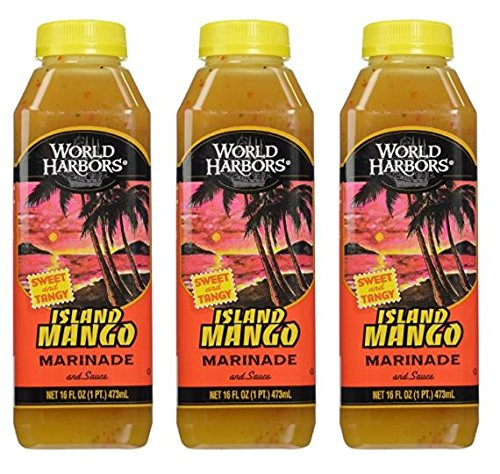 (World Harbor Island Mango Sauce, 16 oz (Pack of 3))