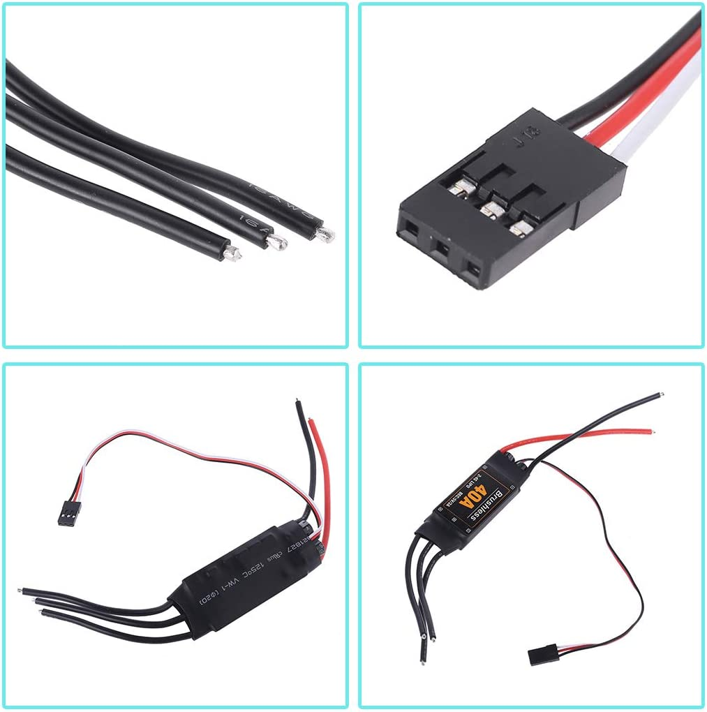 40A Brushless ESC Drone Airplanes Parts Components Controller Motor RC Toys FPV Durable Quadcopter Helicopter jiulonerst
