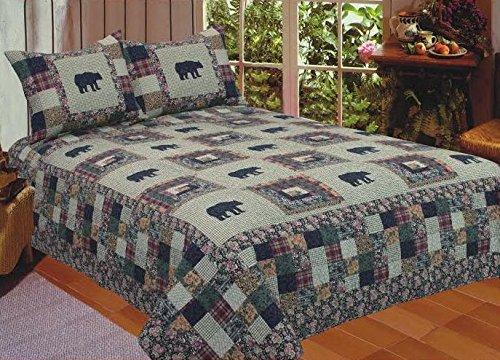 American Hometex Black Bear Medley King Quilt Set