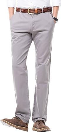 Amazon Com Miya Para Hombre Ajuste Regular Pantalones De Vestir 100 Algodon Frontal Plano Pantalones De Casual Pantalones Para Hombre 16 Opciones De Colores 35 Gris Clothing