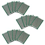 Ocr ® 15PCS PCB Board Universal Double Sided Prototyping Breadboard Panel 4x6cm
