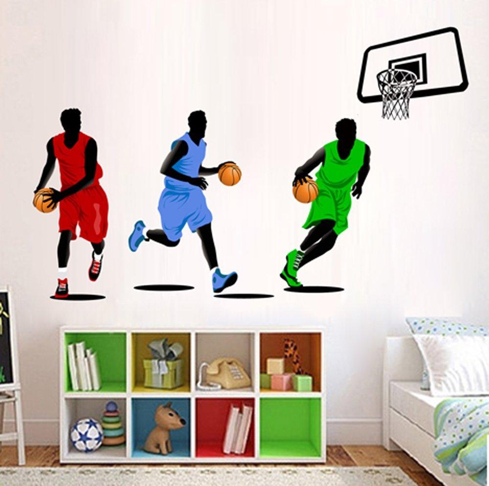 Wunderbar Wandtattoo Basketball Ideen Von Concept.de: Ufengke® Basketball-star Spielen Wandsticker, Kinderzimmer Babyzimmer