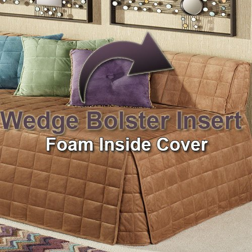 Bed Wedge Bolster Foam Replacement Insert, Firm Cushion Perfect for Day Bed