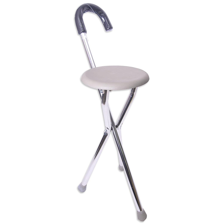 杖(つえ) 折りたたみ椅子付 軽量ステッキチェアー