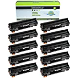 GREENCYCLE 10 Pack Compatible 78A CE278A Black Laser Toner Cartridge Used For LaserJet Pro P1606dn P1566 P1560 M1536dnf P1600 Printer
