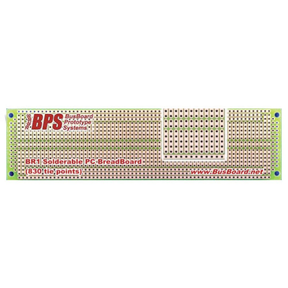Busboard Protot Br1 Solder Able Pc Breadboard 1 Sided Pcb Matches Select Rating Give Computer Circuit Board 5 830 Tie Point With Power Rails Industrial Scientific