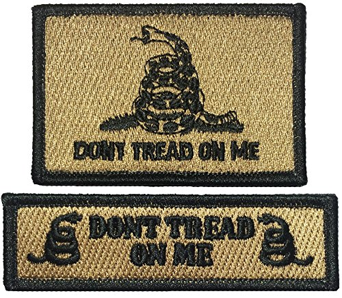 Strategic Don't Tread On Me and Tab Morale Patch - Coyote Tan - By Ranger Return (TACT-DONT-ATAB-COYT)