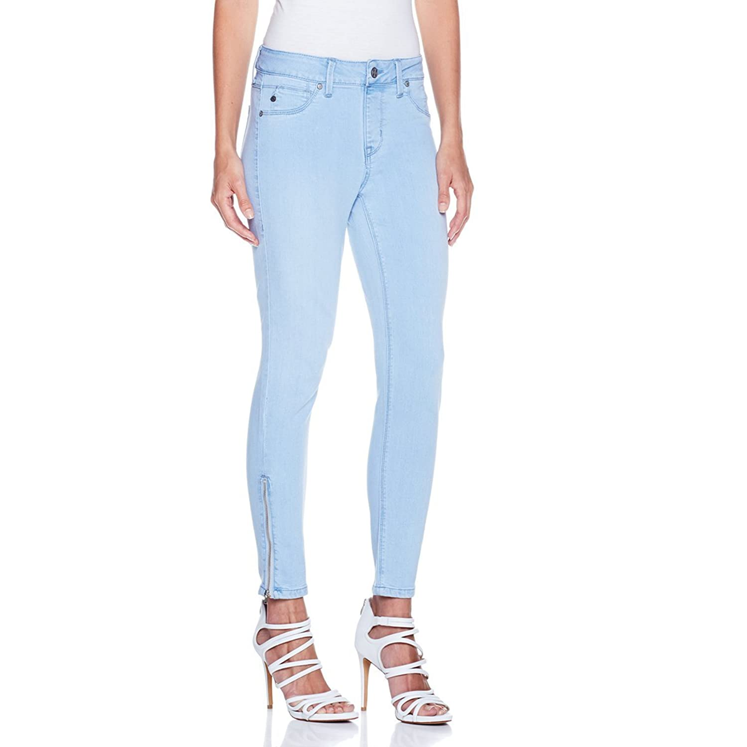 Hot in Hollywood MEGASTRETCH Ankle-Zip Capri - 324404, Chambray 3X