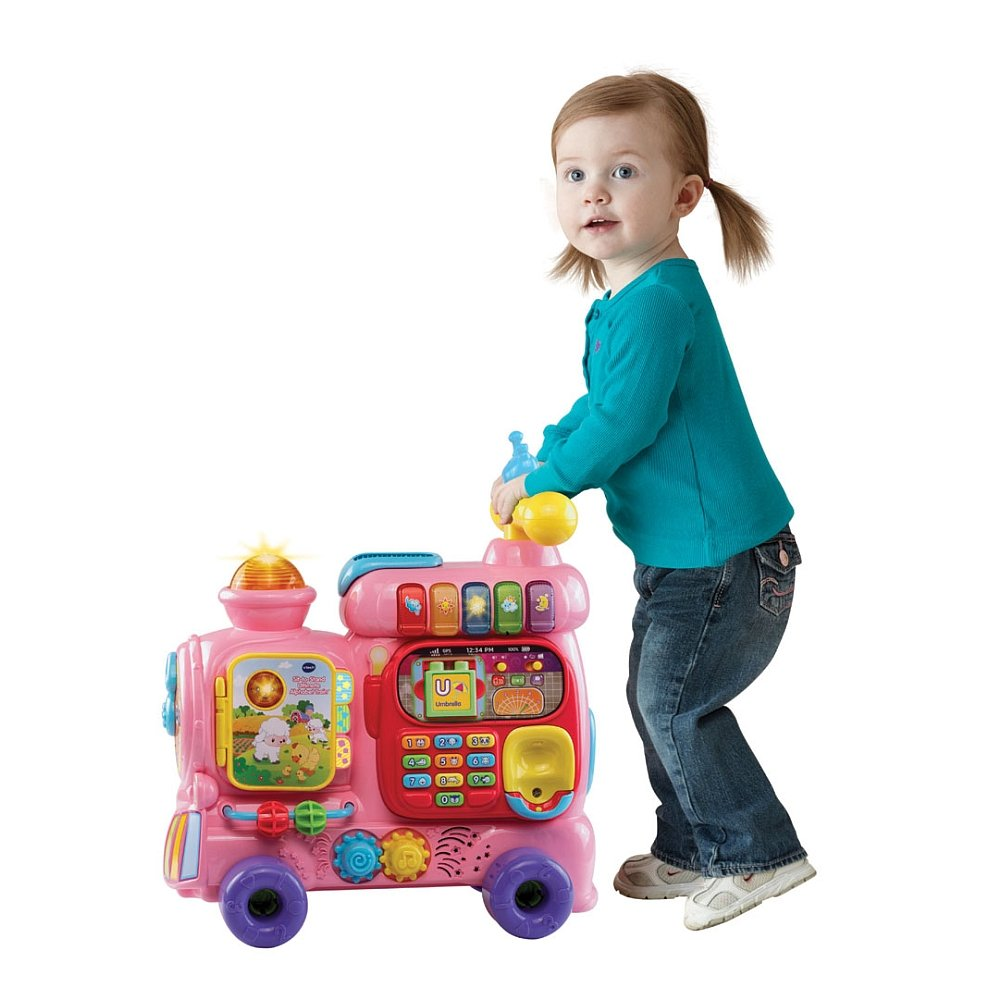 VTech Sit-to-Stand Ultimate Alphabet Train, Pink by VTech (Image #4)