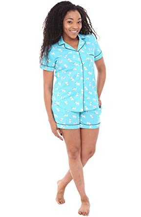 549f73397 Alexander Del Rossa Womens Woven Cotton Pajama Set with Shorts ...