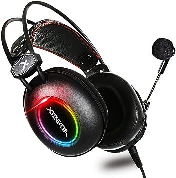 E3 - Auriculares para Xbox One, PS4, ultraligeros, 3,5 mm, con micrófono, compatible con PC, portátil, videojuegos, control de volumen de micrófono flexible: Amazon.es: Electrónica
