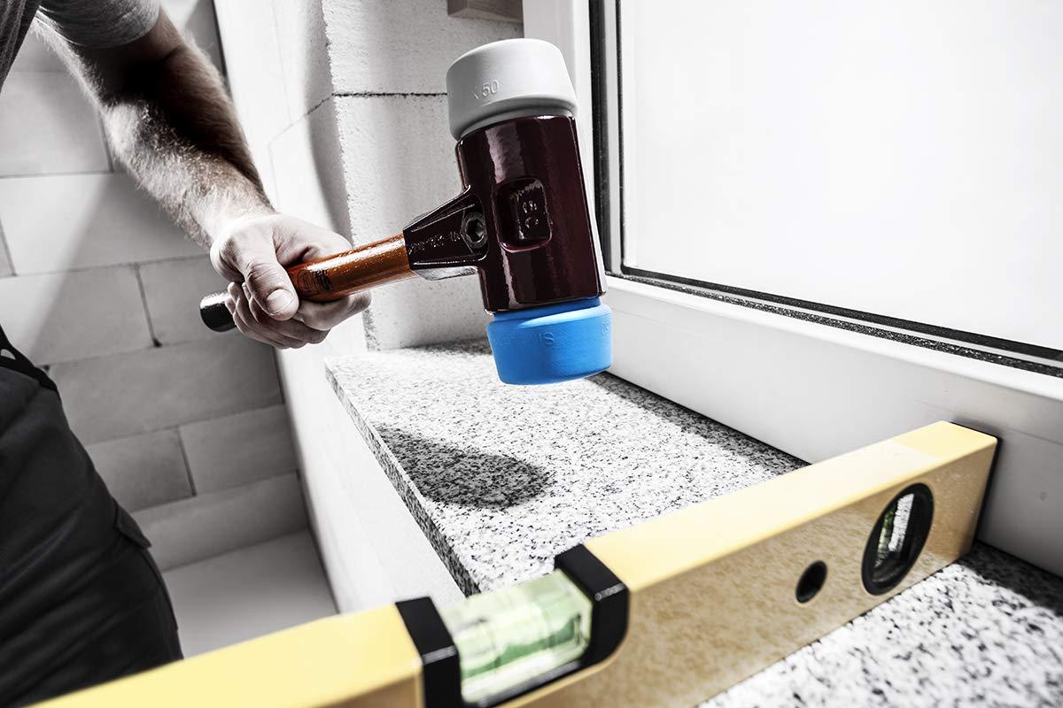 SIMPLEX-Schonh/ämmer mit Stahlgussgeh/äuse und hochwertigen Holzstiel 3013.050 /Ø=50 mm
