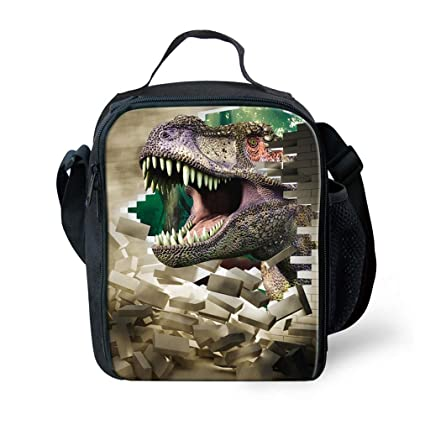 e2106bf73df0 KIds Insulated Reusable Lunch Bags For Food Children 3D Dinosaur Lunch Box  Warmer With Shoulder Adjustable Strap