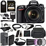 Nikon D750 DSLR Camera with 24-120mm Lens + Rechargable Li-Ion Battery + Home and Car External Charger + Sony 128GB SDXC Card + HDMI Cable + Case + Remote + Memory Card Reader + Cloth + Flash Bundle