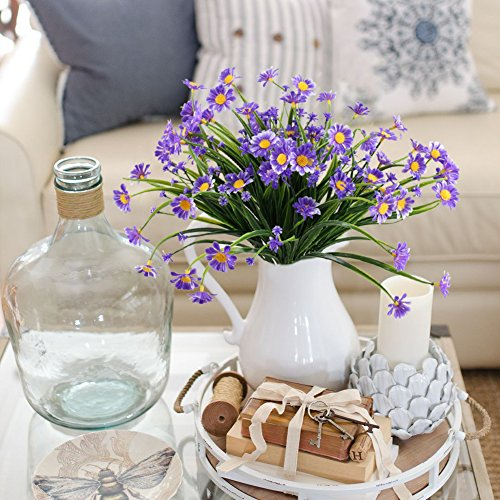 NAHUAA-Artificial-Plants-4PCS-Fake-Daisy-Flowers-Greenery-Bush-Faux-Plastic-Wheat-Grass-Shrubs-Table-Centerpieces-Arrangements-Home-Kitchen-Office-Indoor-Outdoor-Spring-Decorations-Purple