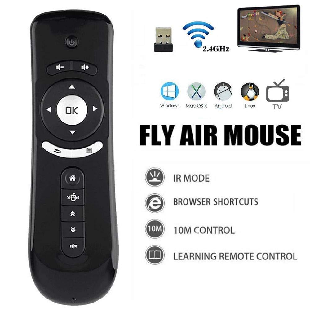 2.4/Ghz mini Fly Air mouse T2/tastiera wireless telecomando con giroscopio 3D Motion stick per PC Android TV Box Google TV