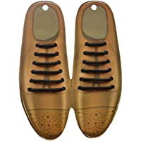 U-lite Vintage Oxford Shoes Goodbye Tie, Dress Shoes No Tie Silicon Shoelaces