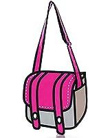 ANKKO Special 3D Style Drawing Cartoon Messenger Bag Women Crossbody Bag