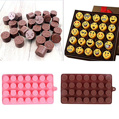 28-even Emoji Expression Smiling Face Shape Cake Decorating Tool Silicone Cake Chocolate Cookies Ice Moulds Chocolate Tool (Hotel Chocolate)