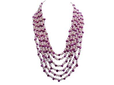 Echte kultivierte weiße Barock-Süßwasserperlen-Halskette 18 Zoll