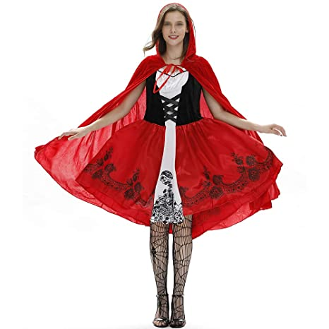 Disfraces Para Halloween De Caperucita Roja.Nbws Disfraz De Caperucita Roja Para Halloween Disfraz De