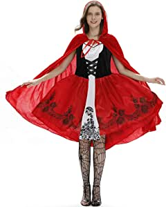 NBWS Disfraz de Caperucita Roja para Halloween Disfraz de Queens ...