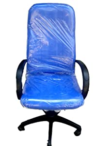Unique Square Cushion Back Office Chair (Blue)