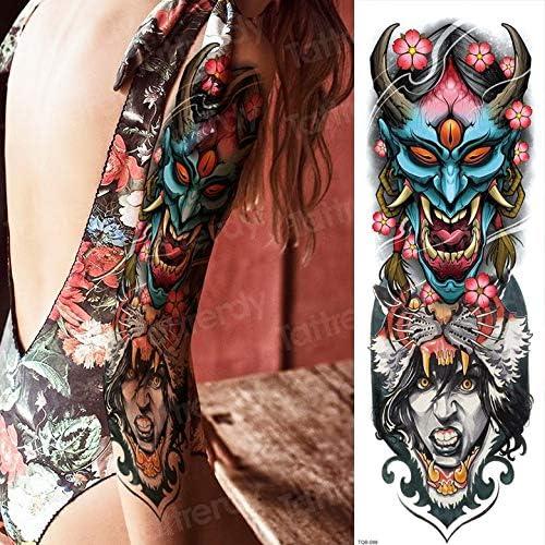 3pcs Waterproof Temporary Tattoos Men Old School Robot Arm Sleeve Tattoos Oversleeve Rose Skull Tatoo Sticker Body Tattoo Large 3pcs Amazon Co Uk Kitchen Home