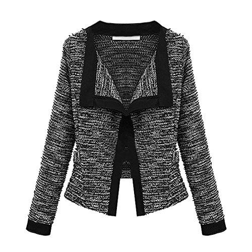 LAEMILIA Cardigan Blouson Femme Hiver Automne Manteau Outwear Chaud Manches Longues Coat Jacket Gilet Tricot