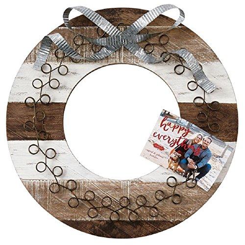 Mud Pie Wood and Tin Wreath Card ()
