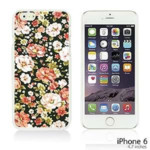OnlineBestDigitalTM - Flower Pattern Hardback Case for Apple iPhone 6 (4.7 inch)Smartphone - Pink and White Roses