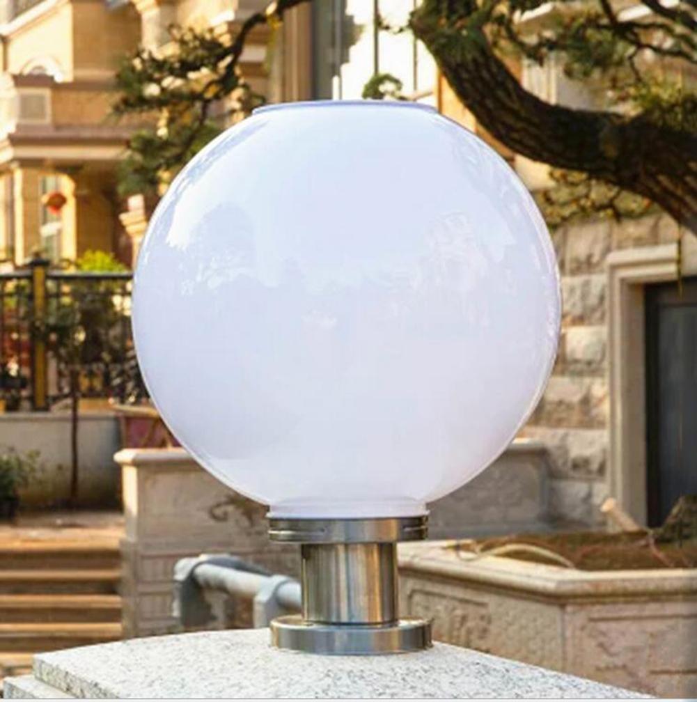 Solare colonna pilastro Outdoor impermeabile LED luci post per cancello, giardino, quadrato, parete, E