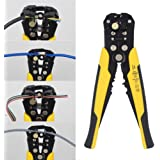 Professional Heavy Duty 8-Inch Wire Stripper Cutter Wire Stripping Tool Automatic Self Adjusting Cable Crimper Plier