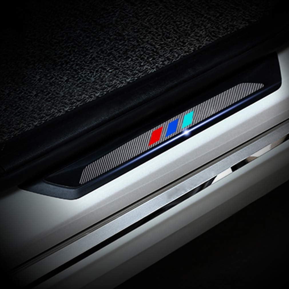 Battitacco Auto Esterno Batticalcagno per KA Fiesta ST B-max Focus ST RS Adesivi delle Soglie delle Porte in Fibra di Carbonio Bianco 4 pezzi