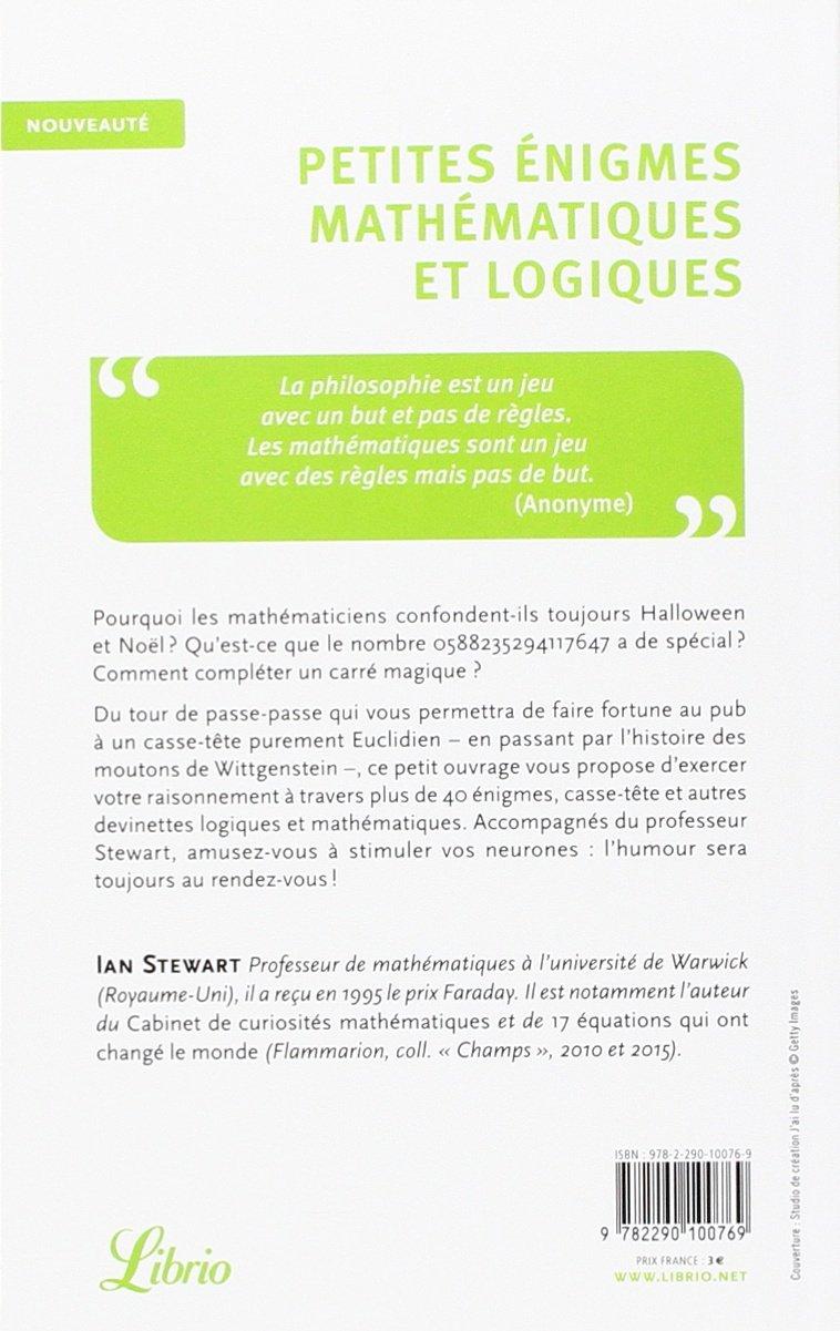 Amazon.fr - PETITES ENIGMES MATHEMATIQUES ET LOGIQUE - IAN STEWART - Livres