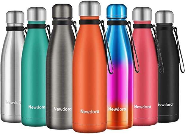 Stainless Steel Water Bottle 500ml BPA Free Vacuum Insulated Hot Cold Leak Proof