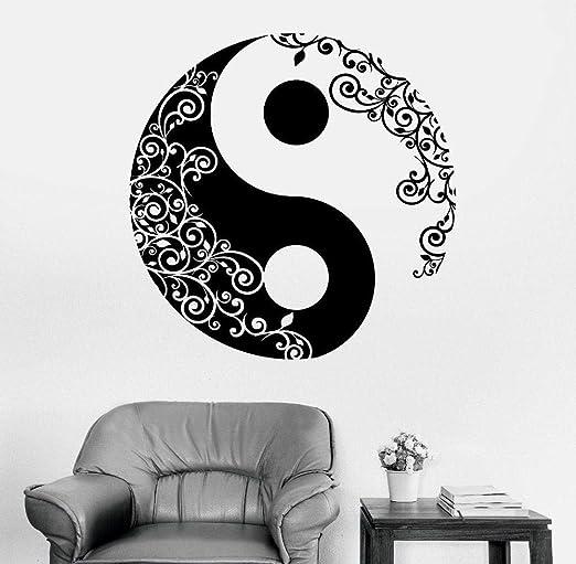 Símbolo de Yin Yang Vinilo de Pared Calcomanía Mandala Etiqueta ...