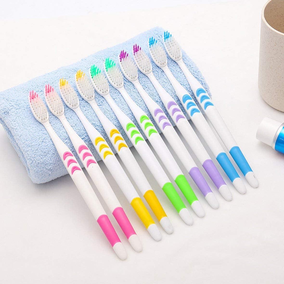 Heaviesk 10er Set Home Family Adult rutschfeste Zahnb/ürste tragbare weiche Zahnb/ürsten Reinigung Zahnschutz Werkzeuge