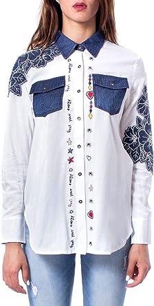 Desigual Luxury Fashion Mujer 19WWCW13WHITE Blanco Camisa | Otoño-Invierno 19: Amazon.es: Ropa y accesorios