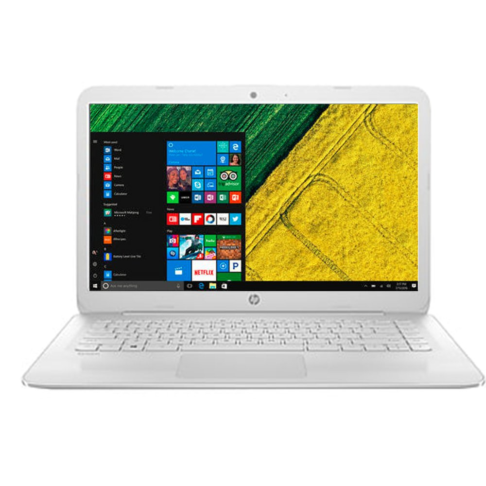 2017 Newest Business Flagship HP Stream Laptop PC with 1-Year Office 14'' HD WLED-backlit Display Intel Celeron Dual Core-Processor 4GB RAM 64GB eMMC Hard Drive HDMI Webcam DTS Studio Windows 10-White
